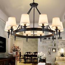 Pendant Light American Country Living Room Lights Hang Lamps Chandelier Crystal Simple Iron Dining Bedroom Study Modern Hanging Fixtures