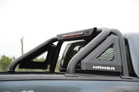 100 Roll Bar For Truck Steel Net Hamer Matte Black Brake Lamp Fits Toyota Hilux