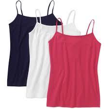 faded glory women u0027s knit cami 3 pack walmart com
