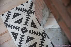 black aztec cement tile shop white s