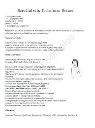 Sample Resume For Dialysis Technician Also Solar Installer Co 1 Trendy
