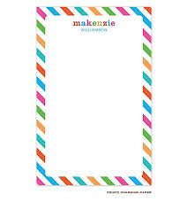 Multi Color Diagonal Striped Border Notepad Designed By Prints Charming Paper
