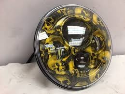 7 daymaker replacement custom yellow skull design projector hid