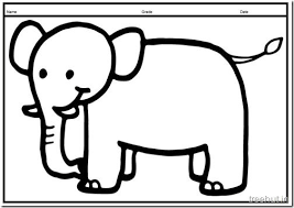 Cute Baby Elephant PrintableColoring Pages 10