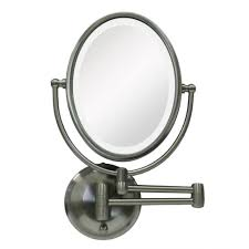 lights magnifying mirror wall mounted rubbed bronze lighted