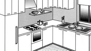 configurer cuisine implantation cuisine type idã al tout sur les en l u i plan avec bar