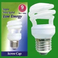 4x 9w low energy cfl mini spiral light bulbs es e27 power saving