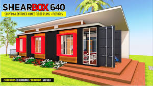 100 Shipping Container Cabin Plans SHEARBOX 640 ID S1320640 3 Beds 2 Baths 640SFt