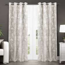 Striped Sheer Curtain Panels by Amazon Com Exclusive Home Bangalore Paisley Thermal Grommet Top