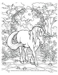 Printable Color Pages Flying Unicorn Coloring Picture Page