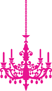 All Proceeds Go Directly To The Breast Cancer Foundation Chandelier Pink