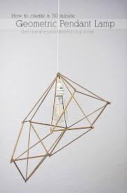 Geometric Pendant Lamp Delineateyourdwelling