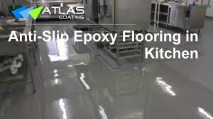 100 Solids Epoxy Floor Coating by Epoxy Flooring In A Commercial Kitchen Youtube