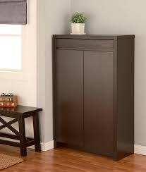 Baxton Simms Shoe Cabinet by Amazon Com Iohomes Zoe 5 Shelf Shoe Cabinet With Drawer