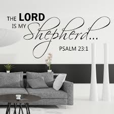The Lord Is My Shepherd Wall Decal Psalm 231 Bible Scripture Religious Vinyl 13 X 34 S In Stickers From Home Garden On Aliexpress