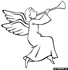 Christmas Angel Online Coloring Page