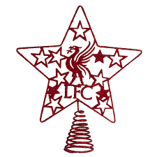 Liverpool FC Christmas Ornament Treetopper Christmas Fashion
