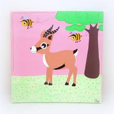 tableau chambre bébé fille tableau chambre bébé tableau gazelle décoration murale