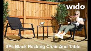 Wido Black Rocking Chair And Table Set Product Video (FSROCK) Rocking Chair On The Wooden Floor 3d Rendering Thonet Chair At Puckhaber Decorative Antiques Man Sitting Rocking In His Living Room Looking Through Costway Classic White Wooden Children Kids Slat Back Fniture Oak Creating A Childrens From An Old Highchair 6 Steps Asta Recline Comfy Recliner Mocka Au Happy Pregnancy Sitting On Stock Image Of Jackson Rocker Click Black New Price Vintage Hitchcock