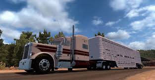 100 Cattle Truck Old Wilson Cattle Trailer Custom Mod ATS Mod American