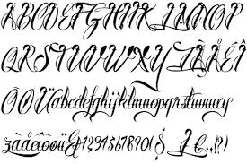 Tattoo Letter Fonts Word Generator
