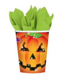 Carnival Scene Setters Halloween by Halloween Pumpkin Paper Cups Party Cups With Jack O Lantern