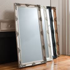 Full Image For Silver Leaning Floor Mirror 85 Enchanting Ideas With Wall Mirrors Cheap