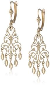 14K Yellow Gold Fancy Chandelier Earrings Amazon Curated Collection