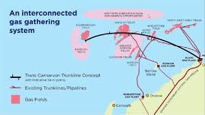 The Route Of Proposed Trans Carnarvon Basin Trunkline Source Australian