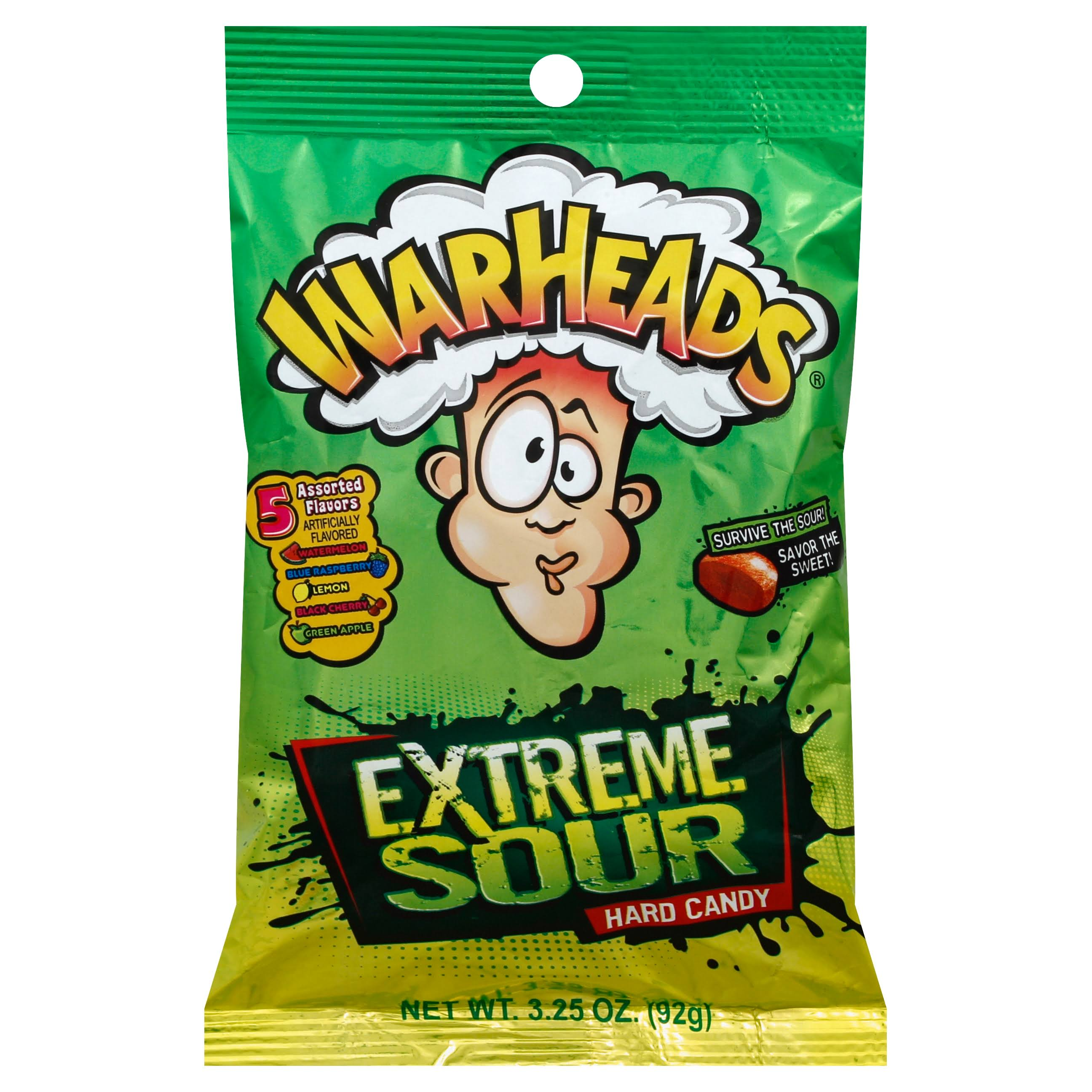 Warheads Extreme Sour Hard Candy - 92g
