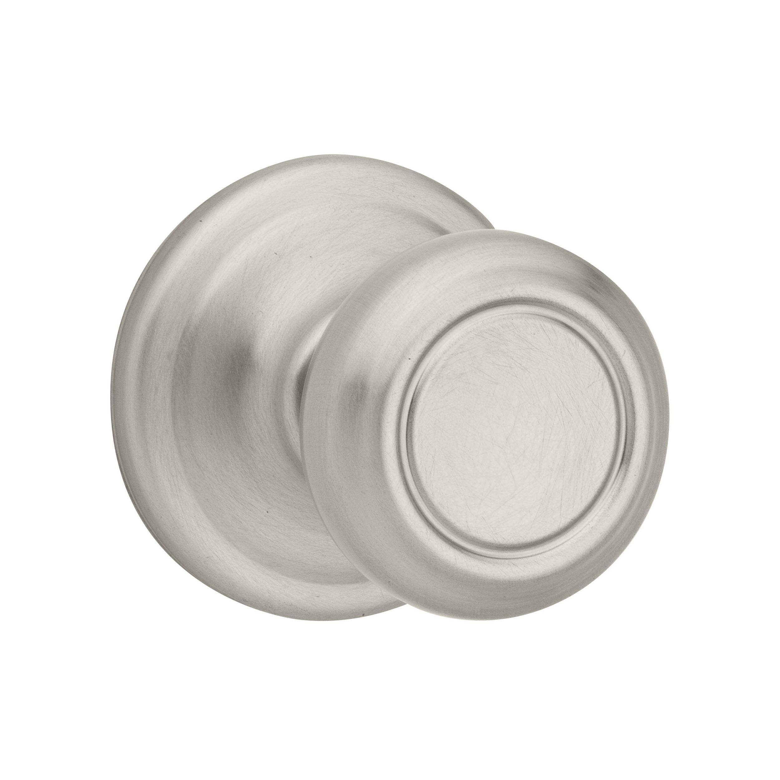 Kwikset Signature Cameron Round Residential Passage Door Knob - Satin Nickel