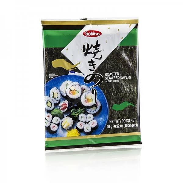 Sukina Roasted Seaweed - 10 Sheets
