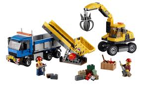 FIN) Amazon.com: LEGO City Demolition Excavator And Truck: Toys ...