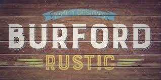 Burford Rustic Font Family 20 OTF