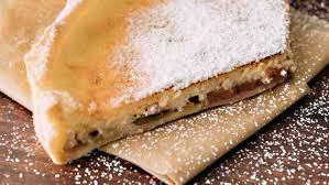 blätterteig quark tarte mit rhabarber und pfirsich