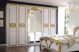 pol power barock kleiderschrank weiß gold möbel