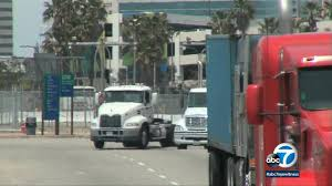 Port Of Los Angeles   Abc7.com Hours Of Service Wikipedia Job Posts 3pl Nrs Craigslist Truck Driving Jobs Los Angeles Ca Class A La Policy On Breaks For Trash Truck Drivers Could Prove Costly Box Owner Operator In Florida Best Resource 5 Important Things You Should Know About A Career In Trucking David Weiss Was Driver And Now He Is Worth Over Million Taxi Description Luxury Long Haul Cover Resume Service Angies List Cdl Class Driver Resume Pacific Gateway Pacgateway Twitter The Truth About Drivers Salary Or How Much Can Make Per Ownoperator Drive With Us