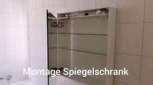 montage spiegelschrank badezimmer