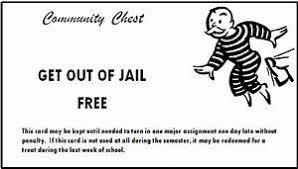 Free Card Template Monopoly Get Out Of Jail