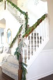 How To Hang Garland On Your Banister - Summer Adams Christmas Decorating Ideas For Porch Railings Rainforest Islands Christmas Garlands With Lights For Stairs Happy Holidays Banister Garland Staircase Idea Via The Diy Village Decorations Beautiful Using Red And Decor You Adore Mantels Vignettesa Quick Way To Add 25 Unique Garland Stairs On Pinterest Holiday Baby Nursery Inspiring The Stockings Were Hung Part Staircase 10 Best Ideas Design My Cozy Home Tour Kelly Elko