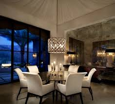 Dining Room Light Fixture Mediterranean Chandelier Circular Area Circe Wood Table White Chairs