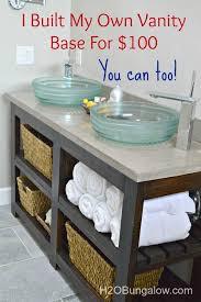 Vanity Furniture For Bathroom by Best 25 Diy Bathroom Vanity Ideas On Pinterest Bathroom Vanity