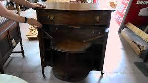 Vintage Tiger Oak Dresser by Lot 664 American Tiger Oak Dresser Cocktail Bar Combo