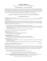 Business Analyst Resumes Free Sample Example Format Doc