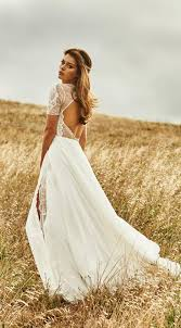 Vintage Boho Summer Beach Wedding Dresses Princess Backless Lace Chiffon Skirt Open Back Elegant White Gown From Meetdresse