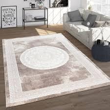 teppich wohnzimmer vintage barock blumen muster beige