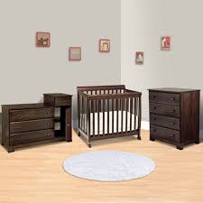 Davinci Kalani Combo Dresser Hutch Espresso by Da Vinci 3 Piece Nursery Set Kalani Mini Crib 4 Drawer Dresser