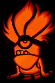 Clown Pumpkin Template by Carved Pumpkin Purple Minion For Despicable Me 2 Pumpkin