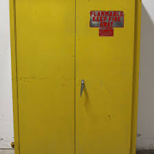 Flammable Liquid Storage Cabinet Grounding by Flammable Cabinet Flammable Safety Cabinet 60 Gal Yellow Edsal