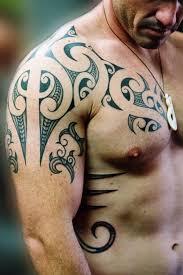 Men Shoulder Asian Tattoo